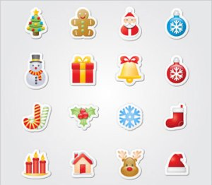 "Exclusive Icons for the Holidays: ""Xmas Stickers"""