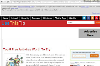 How to Access Google Cache Page of a website Quickly on Google Chrome