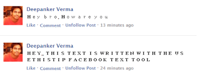 Write in DifferentFont on Facebook UseThisTIP Facebook Text Tool