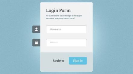 Login Form HTMl/CSS3 jQuery