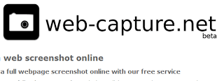 web-capture.net capture Full page Screenshots