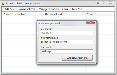 Pault password management tool