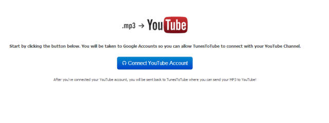 Upload MP3 on YouTube with TunestoTube