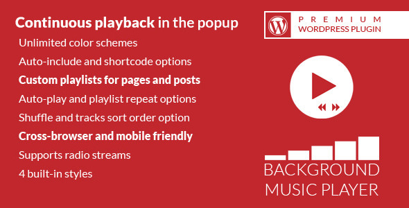 Background Music Player WordPress Plugin