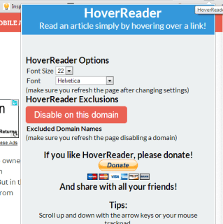 HoverReader Chrome