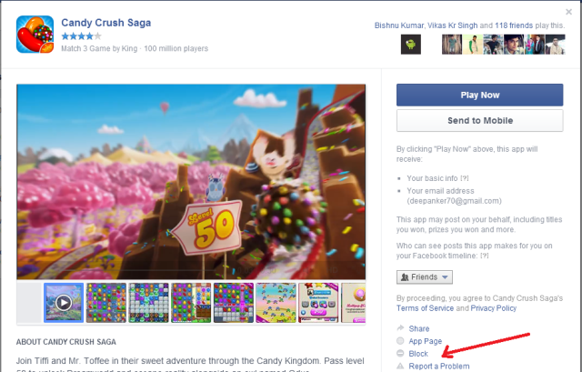 Block Facebook game or app requests