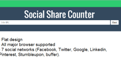 Creating a social share Counter in PHP