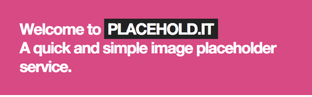 Placehold.it Placeholder Images Services