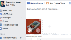 How to add Stickers in Photos while uploading it on Facebook