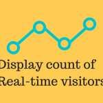How to display count of real time online visitors in WordPress website.