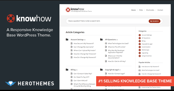 KNowhow Wiki KNowledge base WordPress theme