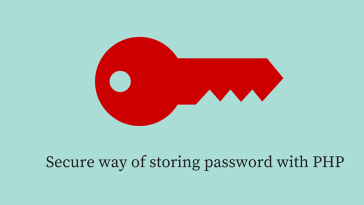 Secure way of storing password with PHP