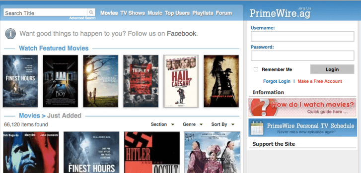 PrimeWire: Watch Movies Online