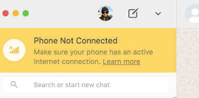 whatsapp disconnect