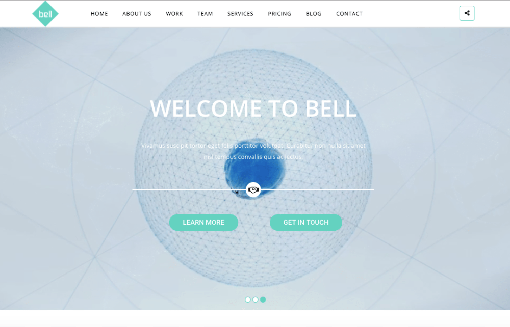 Bell One Page WordPress theme