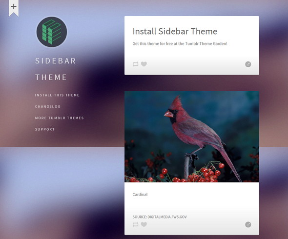 Sidebar Theme for Tumblr