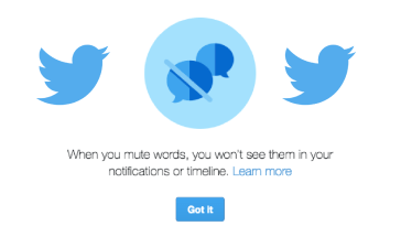 How to mute abusive words on Twitter