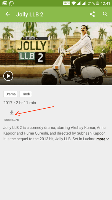Download Hotstar videos on Android