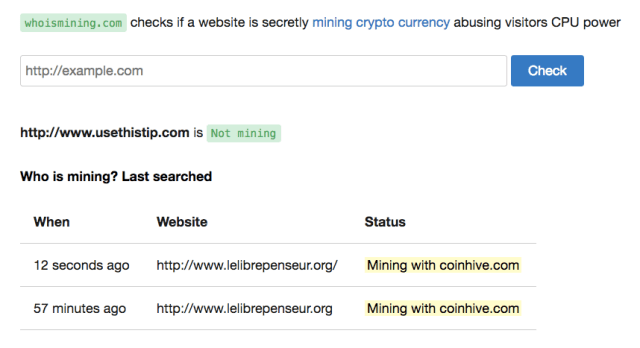 Check If a Website is Secretly Mining Cryptocurrency