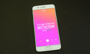 Add Instagram text stories