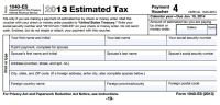Maryland estimated tax payment voucher 2014