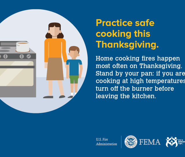 Thanksgiving Cooking Fire Safety Tip Social Media Card
