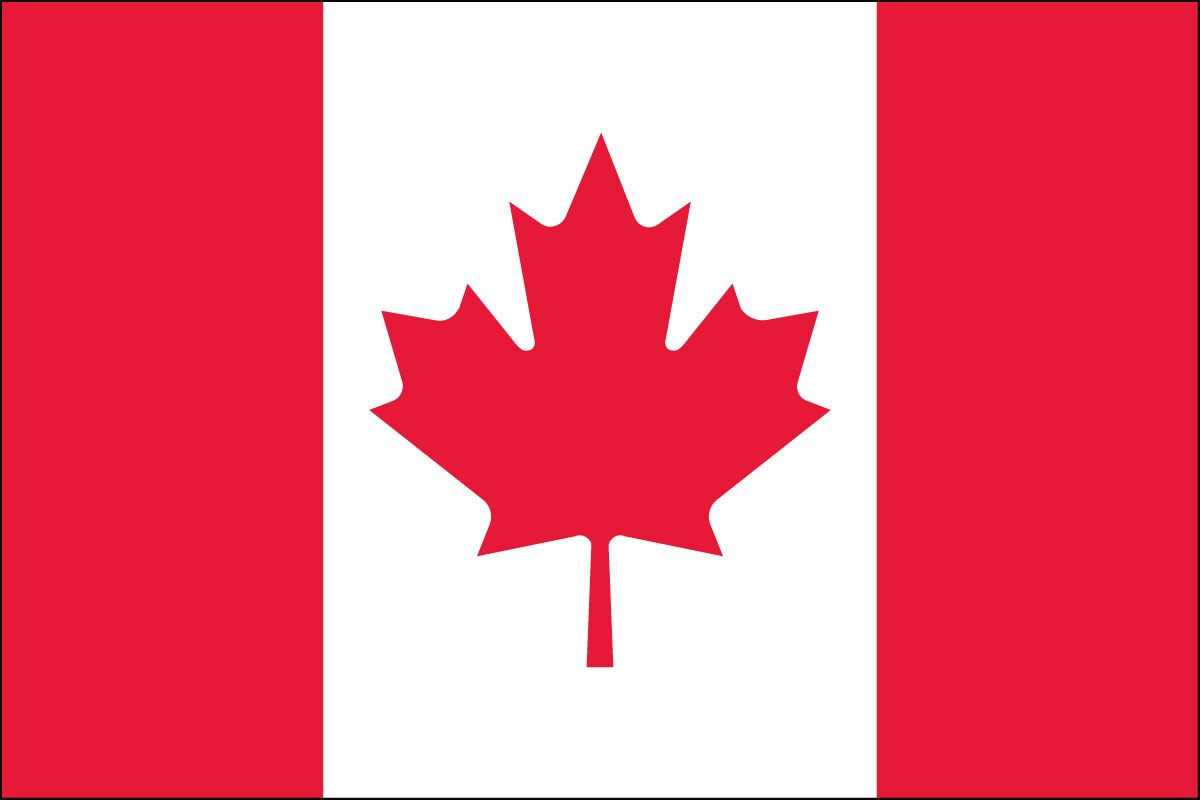 Canada Flag 2 X 3 Ft Indoor Display Or Parade Flag