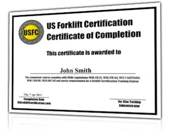 Get Your Employees Forklift Certified Online for Only $36 Each