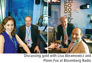 discussing gold with lisa abramowicz and pimm fox at bloomberg radio