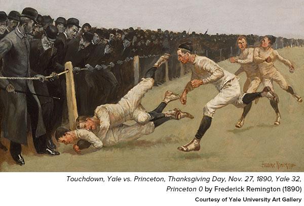 Touchdown, Yale vs. Princeton, Thanksgiving Day, Nov. 27, 1890, Yale 32