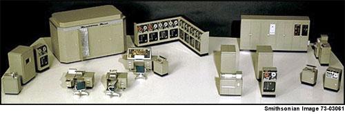 Model of Univac I computer, c. 1954