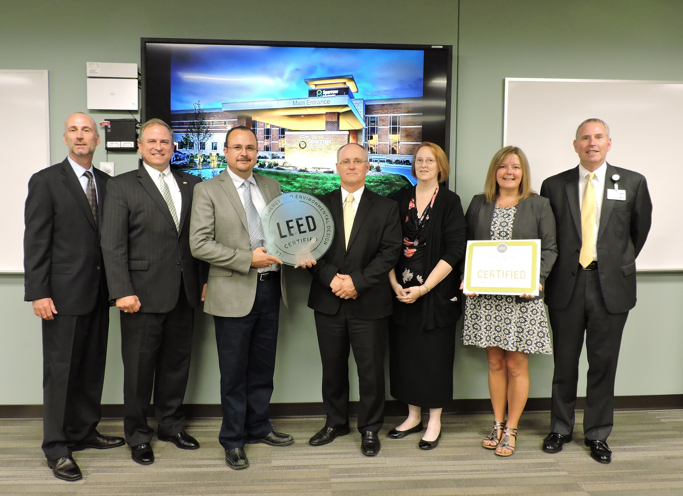 Sparrow Ionia Hospital Celebrates 1st Leed For Healthcare In Michigan