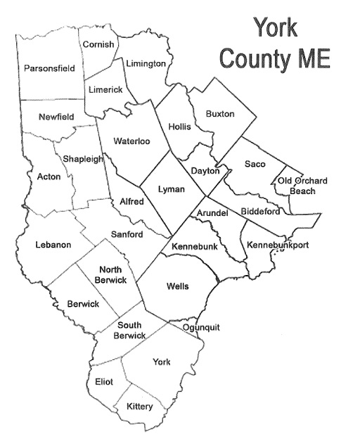 Oxford County Maine Maps