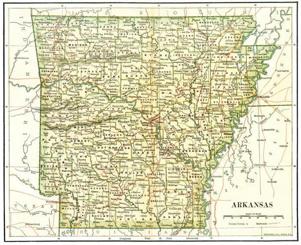 Arkansas Maps Arkansas Digital Map Library Table of