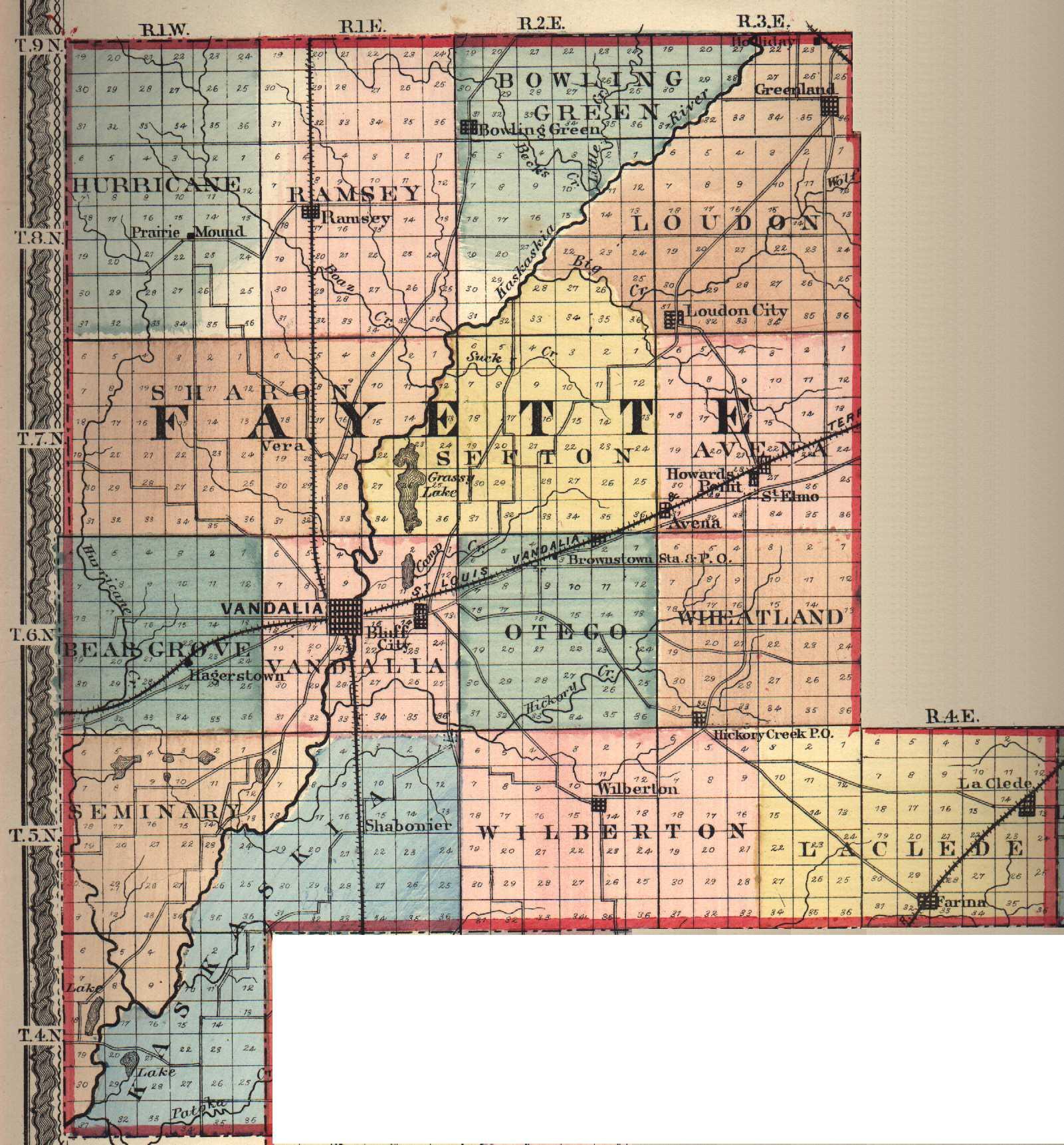 Il County Sangamon Map