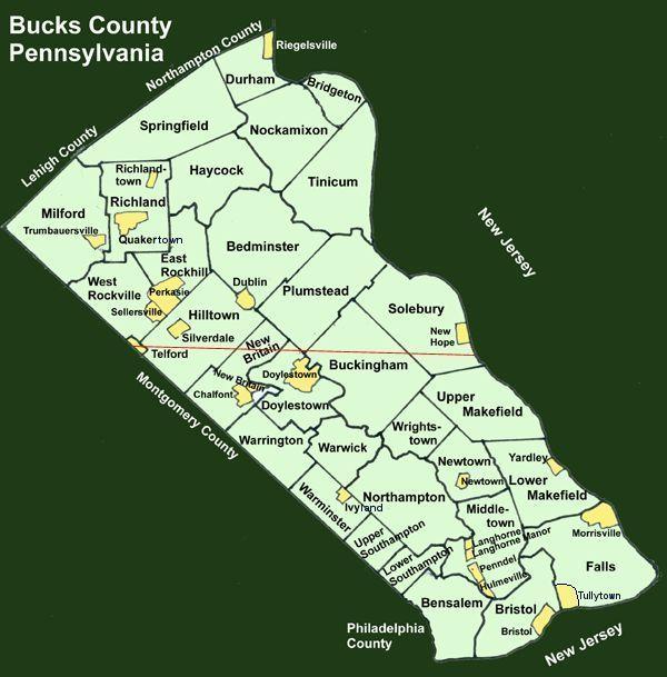 Bucks County Pennsylvania Township Maps