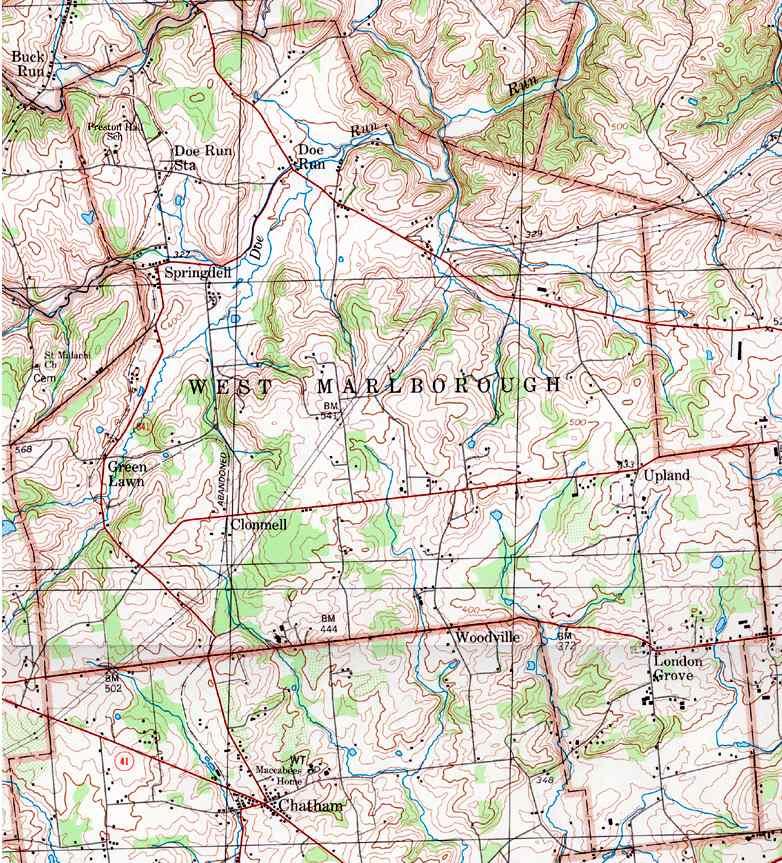 Map Uwchlan Township