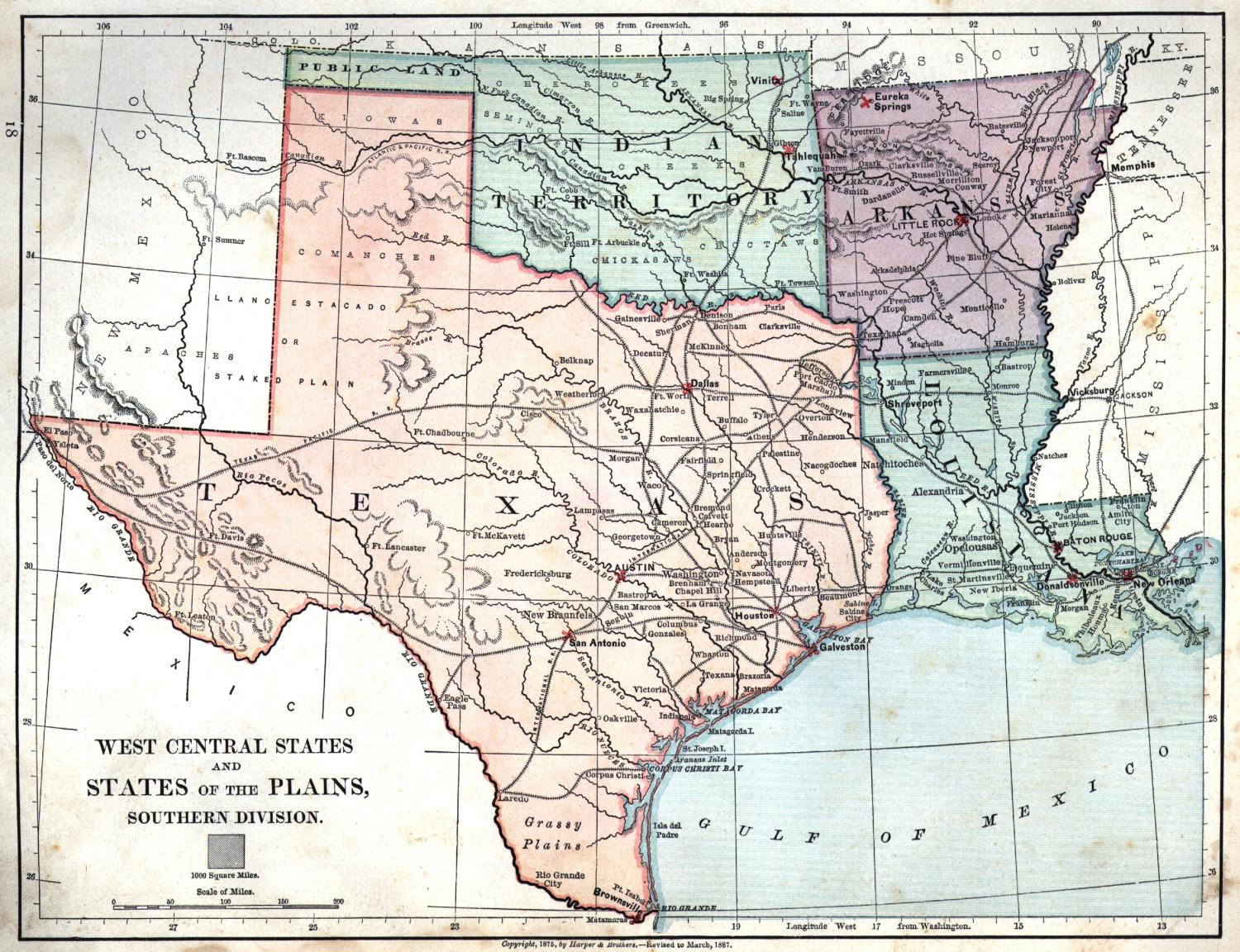 Map Of Texas And Louisiana Together