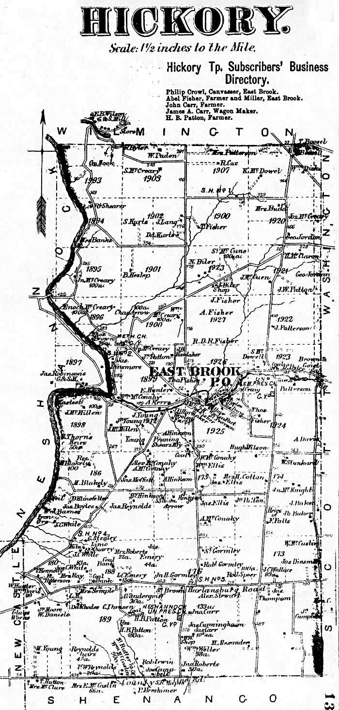 Lawrence County Pennsylvania Atlas, 1872