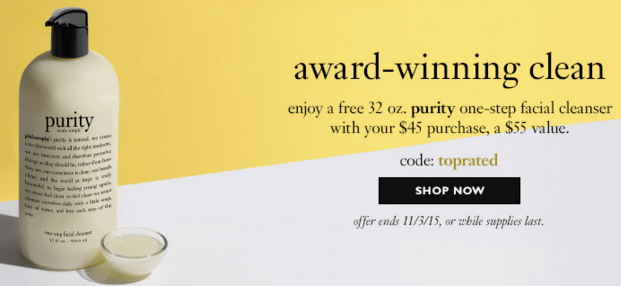 Philosophy gift with purchase - up to 8 pcs with $45 purchase ...