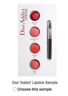 Nordstrom: FREE Dior 'Addict' Lipstick Sample with any
