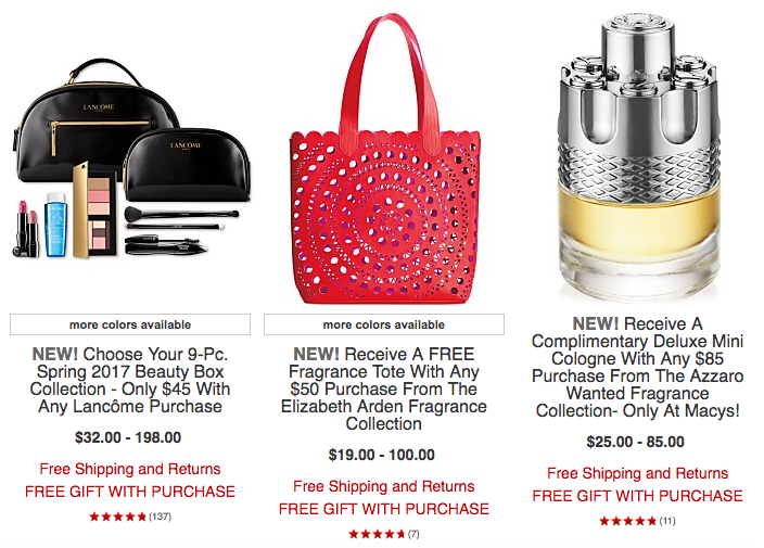 Macy's: Up to 50% off on Tarte, Lancome + Shiseido GWP + more ...