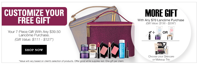 Lancome gift with purchase - 7 pcs with $39.50 purchase | Gift ...