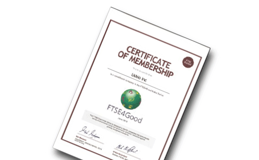 USHIO Selected for the FTSE4Good Index for the Twelfth