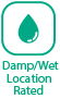 Damp / Wet Location Rated