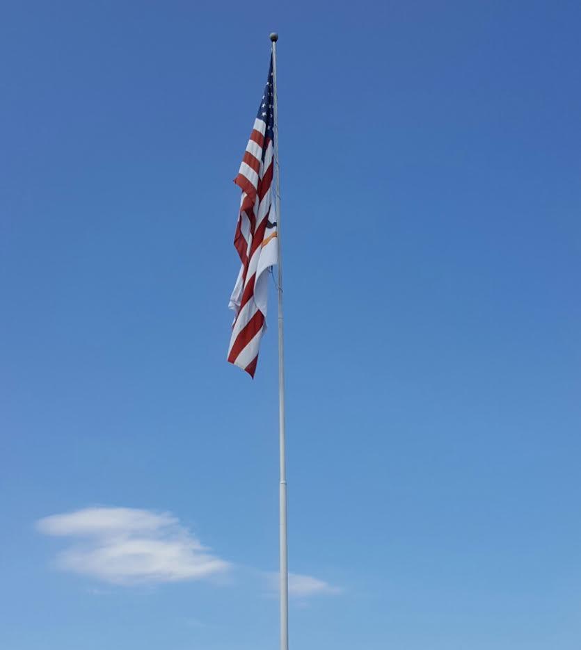 u s flag wall