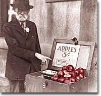 Apples for sale in Detroit