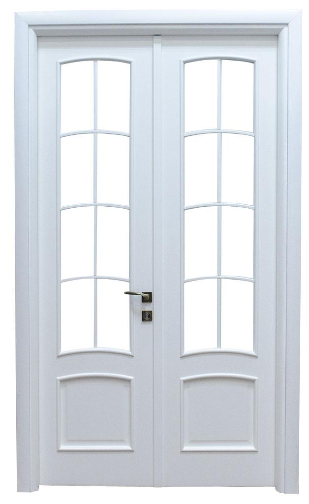 Usa de interior din lemn cu geam model A83