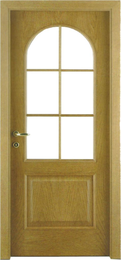 Usa de interior din lemn cu geam model ASP6
