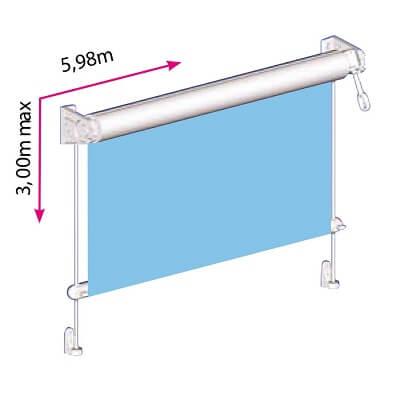 store transparent pour pergola terrasse